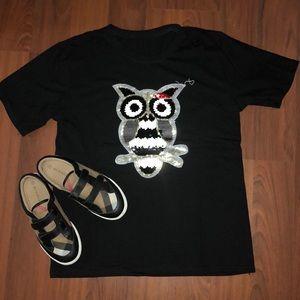 Tops - Sequence black owl t-shirt